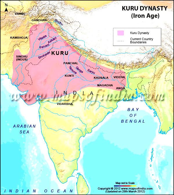 22_kambhoja-gandhara-kuru-dynasty-map